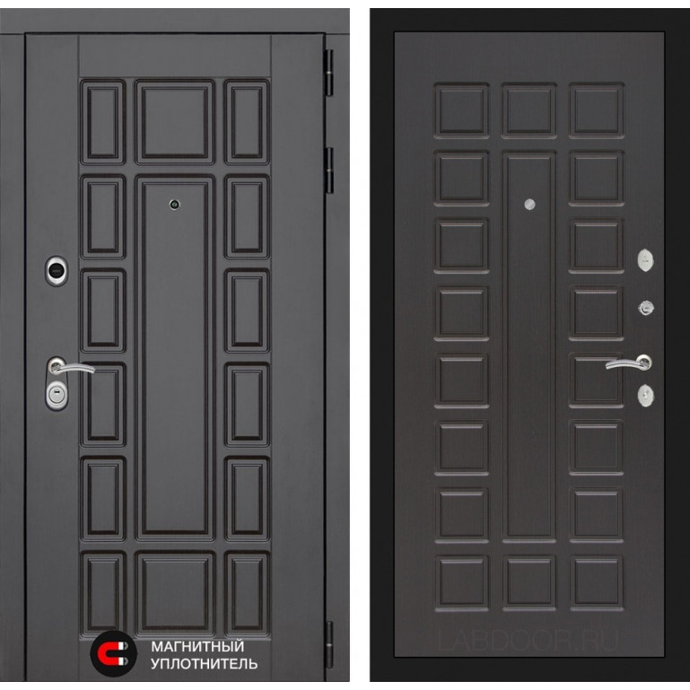 Стальная дверь Лабиринт NEW YORK 04 (Венге)