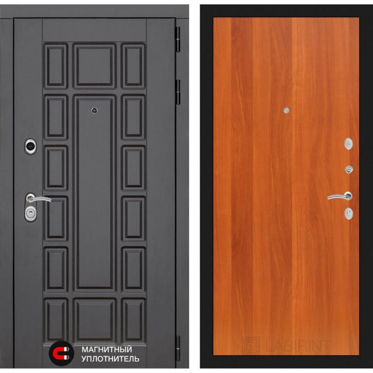 Стальная дверь Лабиринт NEW YORK 05 (Итальянский орех)