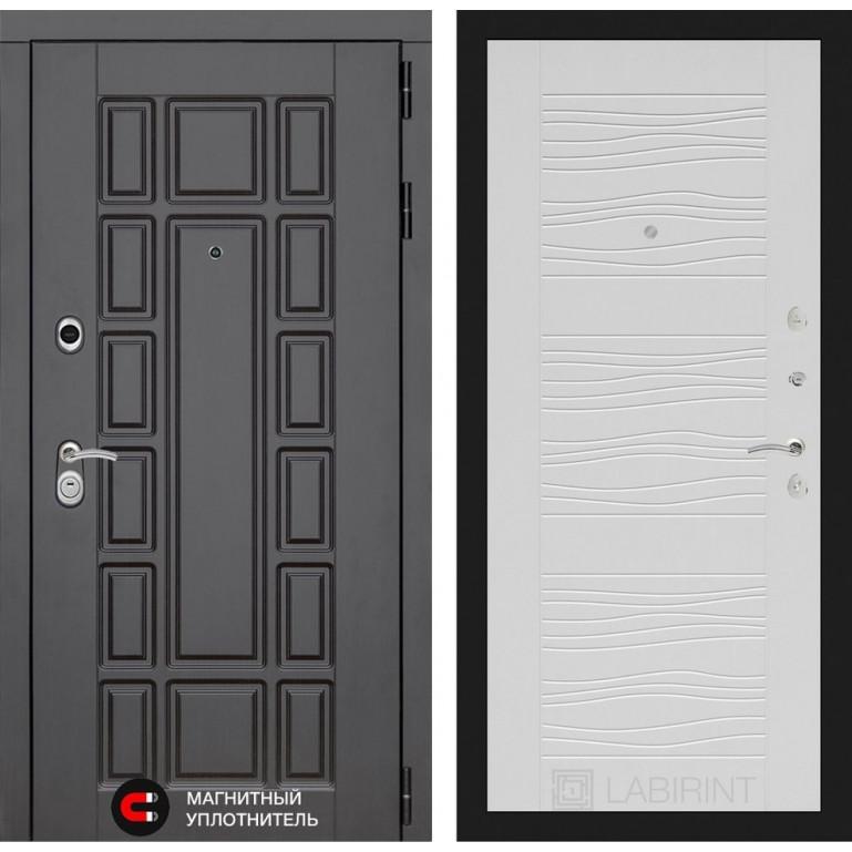 Стальная дверь Лабиринт NEW YORK 06 (Белое дерево)