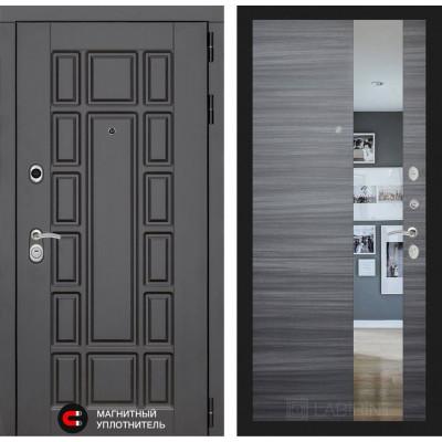 Стальная дверь Лабиринт NEW YORK с зеркалом (Сандал серый)