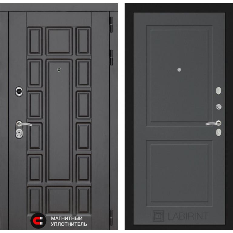 Стальная дверь Лабиринт NEW YORK 11 (Графит софт)