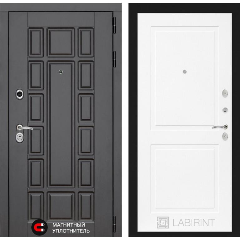 Стальная дверь Лабиринт NEW YORK 11 (Белый софт)
