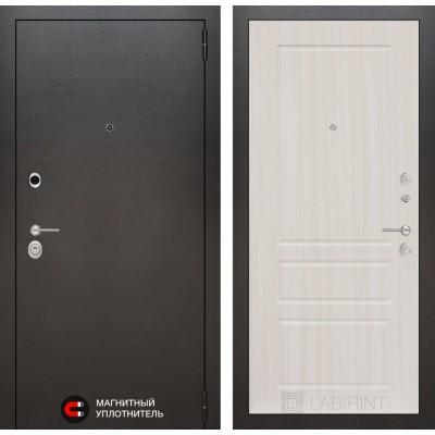 Стальная дверь Лабиринт SILVER 03 (Сандал белый)