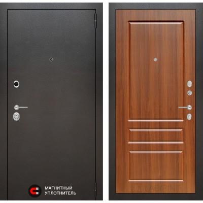 Стальная дверь Лабиринт SILVER 03 (Орех бренди)