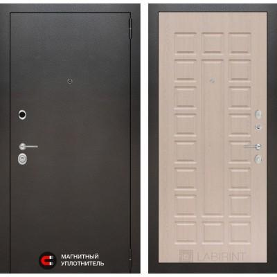 Стальная дверь Лабиринт SILVER 04 (Беленый дуб)