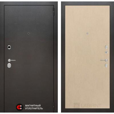 Стальная дверь Лабиринт SILVER 05 (Беленый дуб)