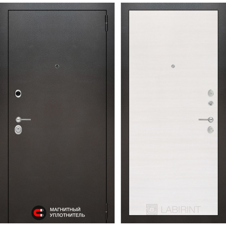 Стальная дверь Лабиринт SILVER 07 (Перламутр горизонтальный)