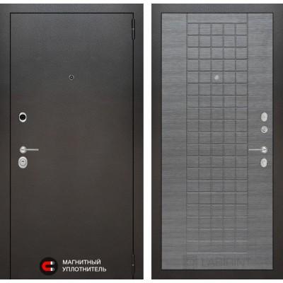 Стальная дверь Лабиринт SILVER 09 (Лен сильвер грей)