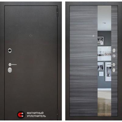 Стальная дверь Лабиринт SILVER с зеркалом (Сандал серый)