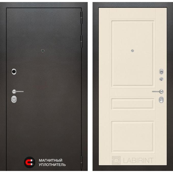 Стальная дверь Лабиринт SILVER 03 (Крем софт)