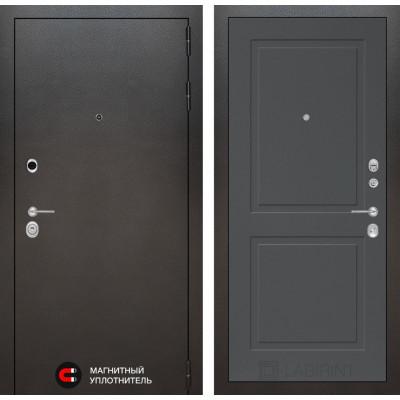 Стальная дверь Лабиринт SILVER 11 (Графит софт)