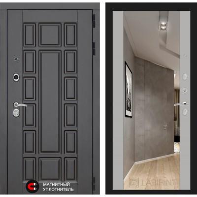 Стальная дверь Лабиринт NEW YORK с зеркалом (Софт Грей)