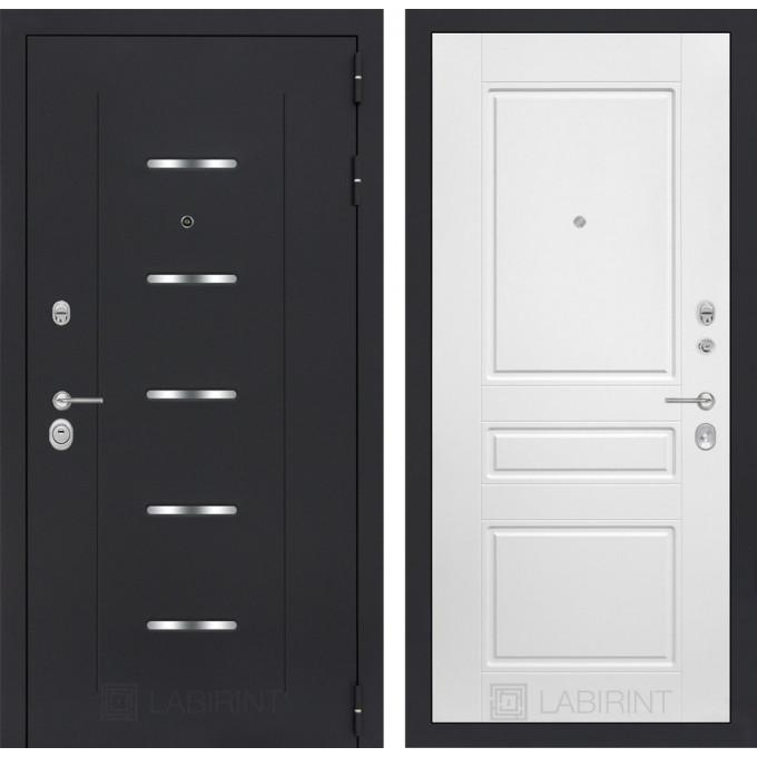 Стальная дверь Лабиринт ALFA 03 (Белый софт)