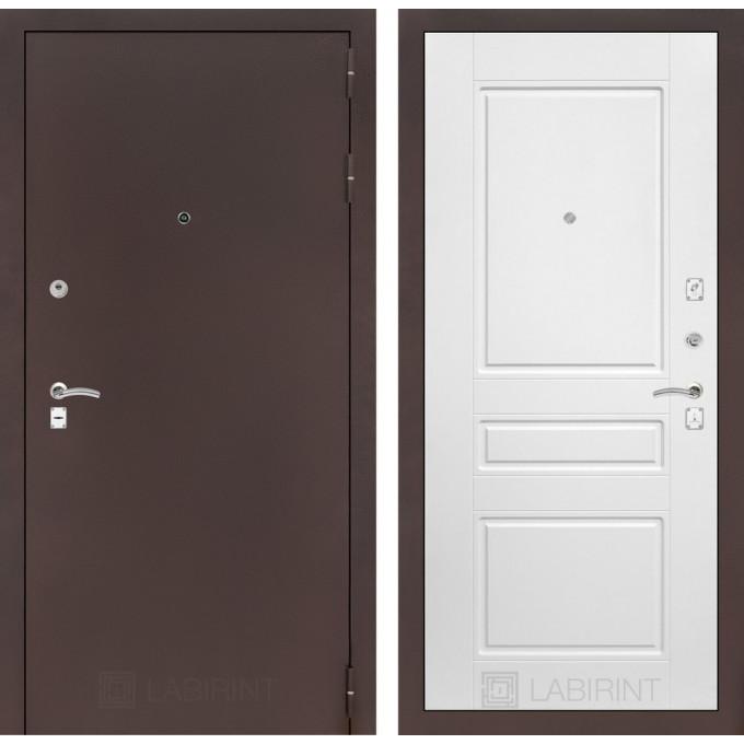 Дверь Лабиринт Classic 03 (Антик медный / Белый софт)