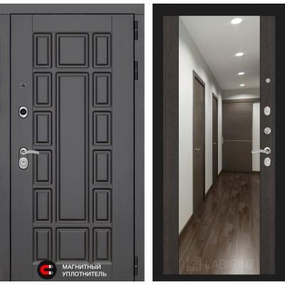 Стальная дверь Лабиринт NEW YORK Максимум с зеркалом (Венге)