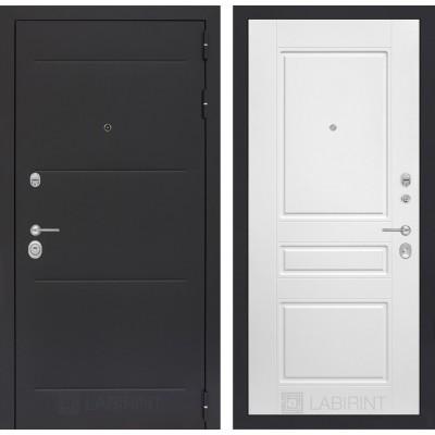 Стальная дверь Лабиринт LOFT 03 (Белый софт)