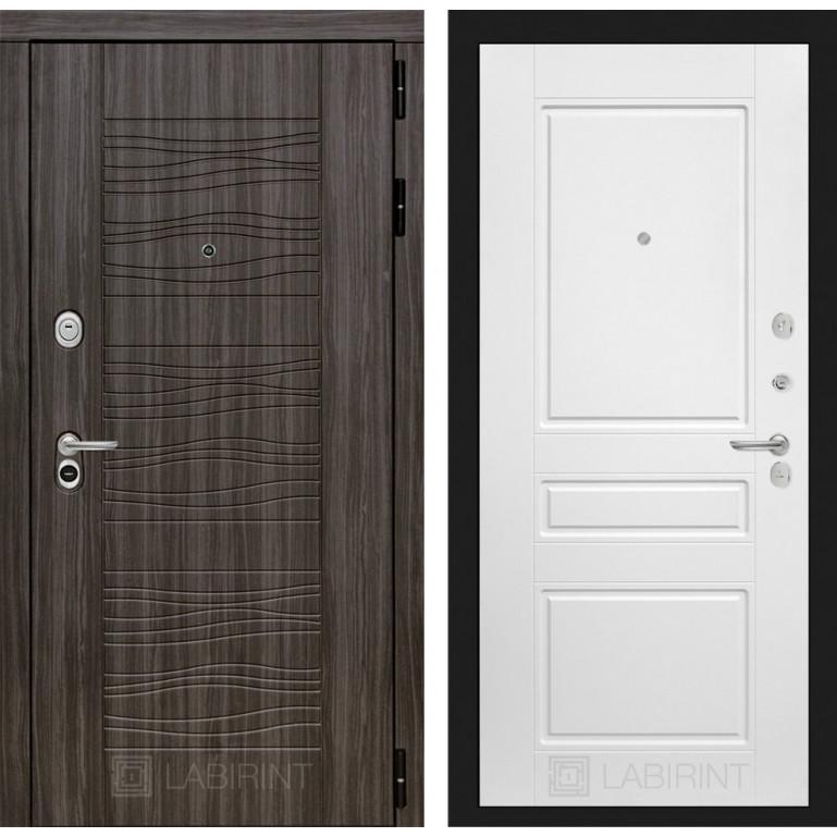 Стальная дверь Лабиринт SCANDI 03 (Белый софт)