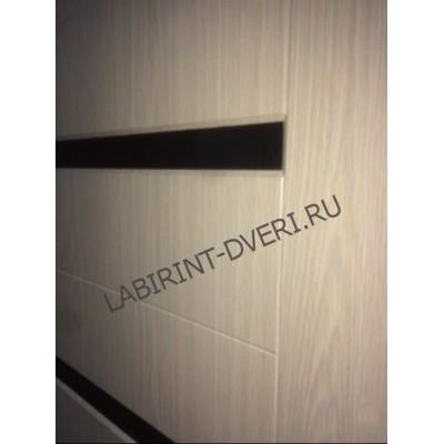 Стальная дверь Лабиринт LINE 01 (Беленый дуб)