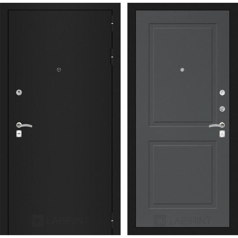Дверь Лабиринт Classic 11 (Шагрень черная / Графит софт)