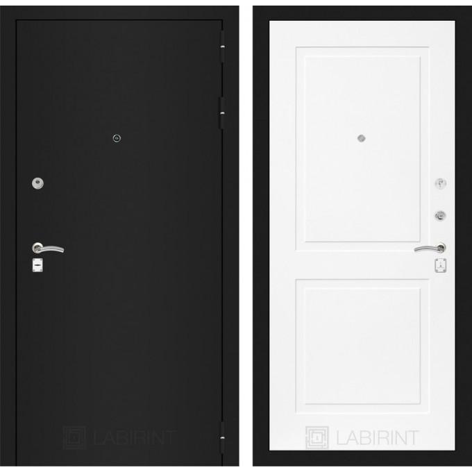 Дверь Лабиринт Classic 11 (Шагрень черная / Белый софт)