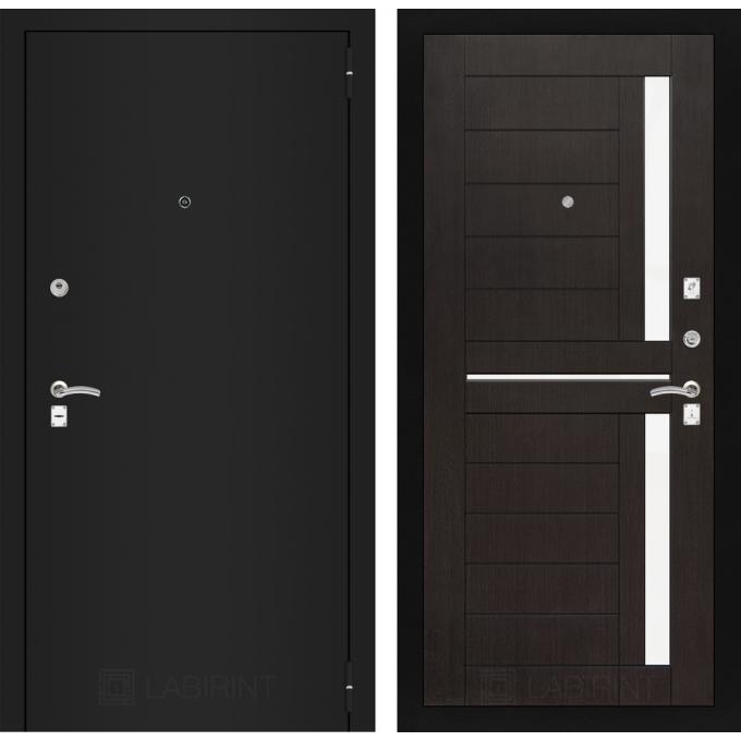 Дверь Лабиринт Classic 02 (Шагрень черная / Венге)