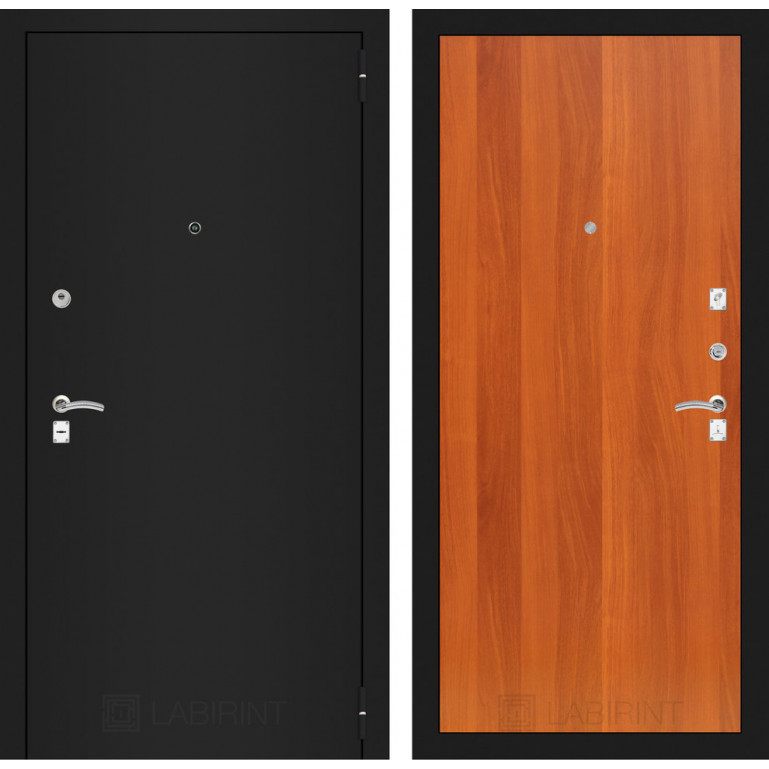 Дверь Лабиринт Classic 05 (Шагрень черная / Итальянский орех)