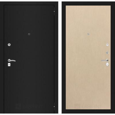 Дверь Лабиринт Classic 05 (Шагрень черная / Беленый дуб)
