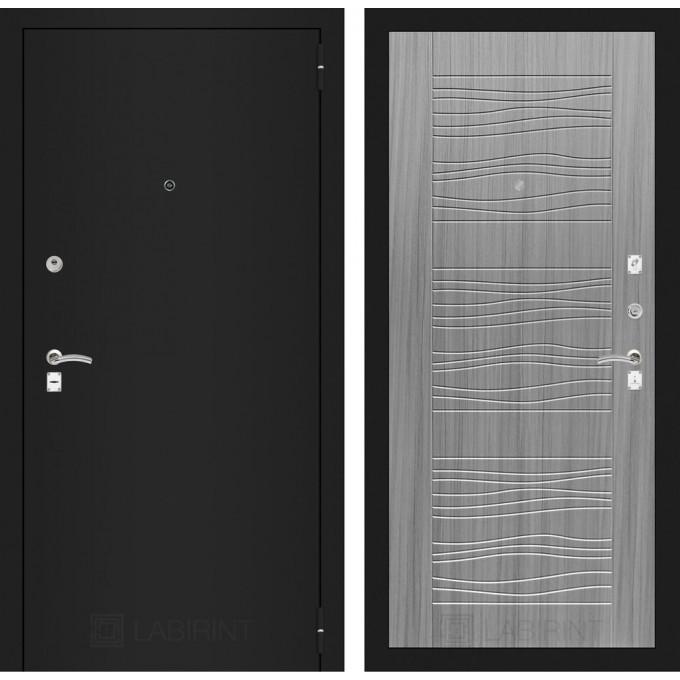 Дверь Лабиринт Classic 06 (Шагрень черная / Сандал серый)