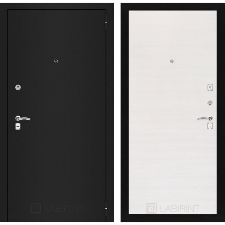 Дверь Лабиринт Classic 07 (Шагрень черная / Перламутр горизонтальный)
