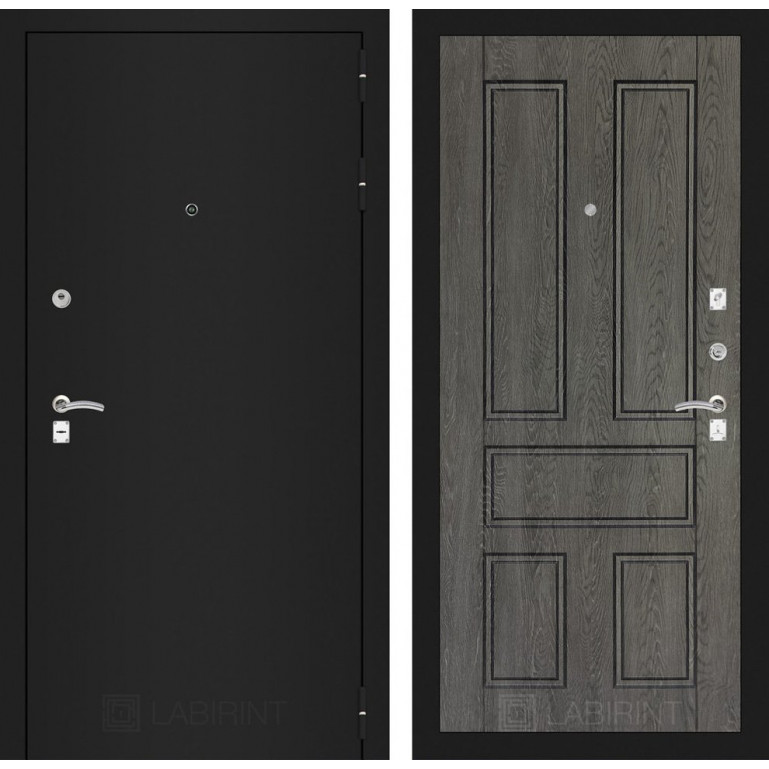 Дверь Лабиринт Classic 10 (Шагрень черная / Дуб филадельфия)