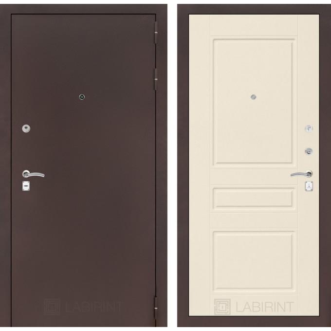 Дверь Лабиринт Classic 03 (Антик медный / Крем софт)