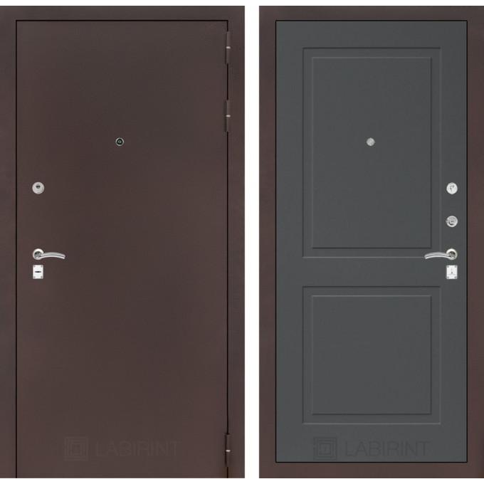 Дверь Лабиринт Classic 11 (Антик медный / Графит софт)