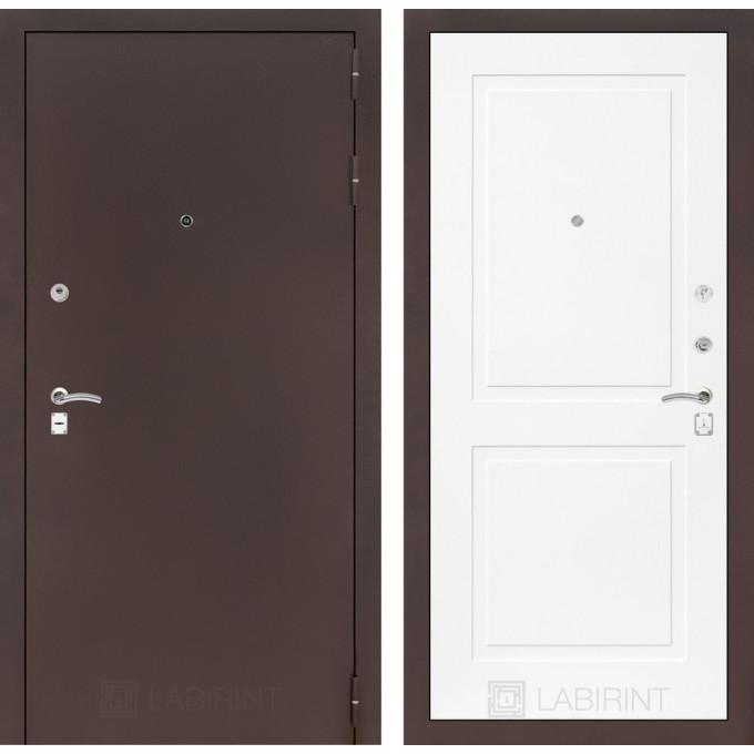 Дверь Лабиринт Classic 11 (Антик медный / Белый софт)