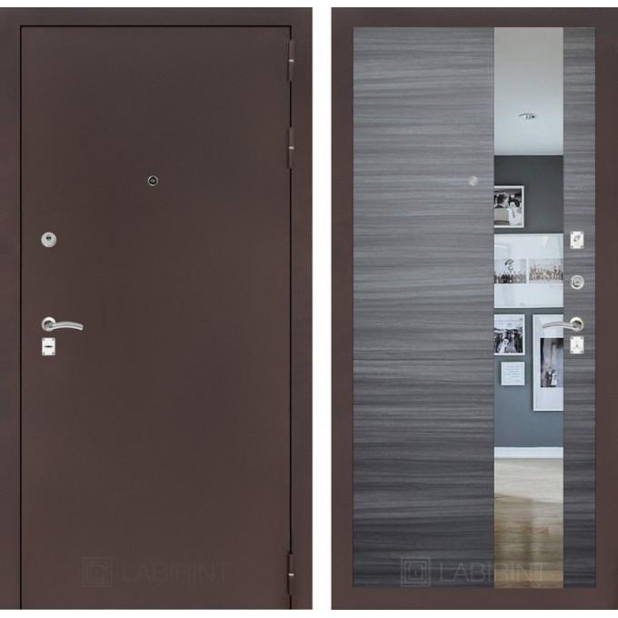 Дверь Лабиринт Classic с зеркалом (Медный антик / Сандал серый)