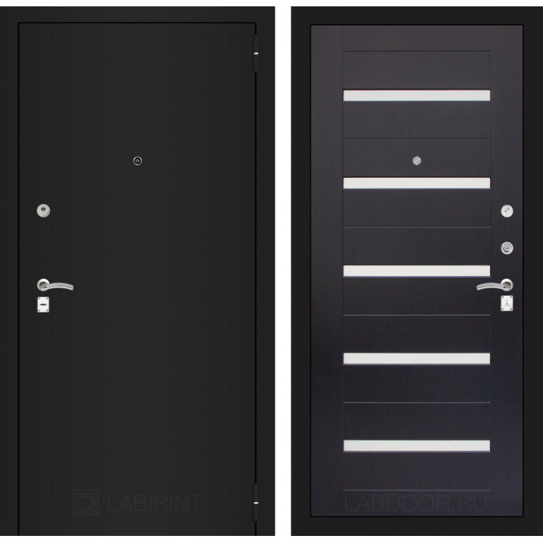 Дверь Лабиринт Classic 01 (Шагрень черная / Венге)