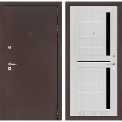 Дверь Лабиринт Classic 02 (Антик медный / Сандал белый)