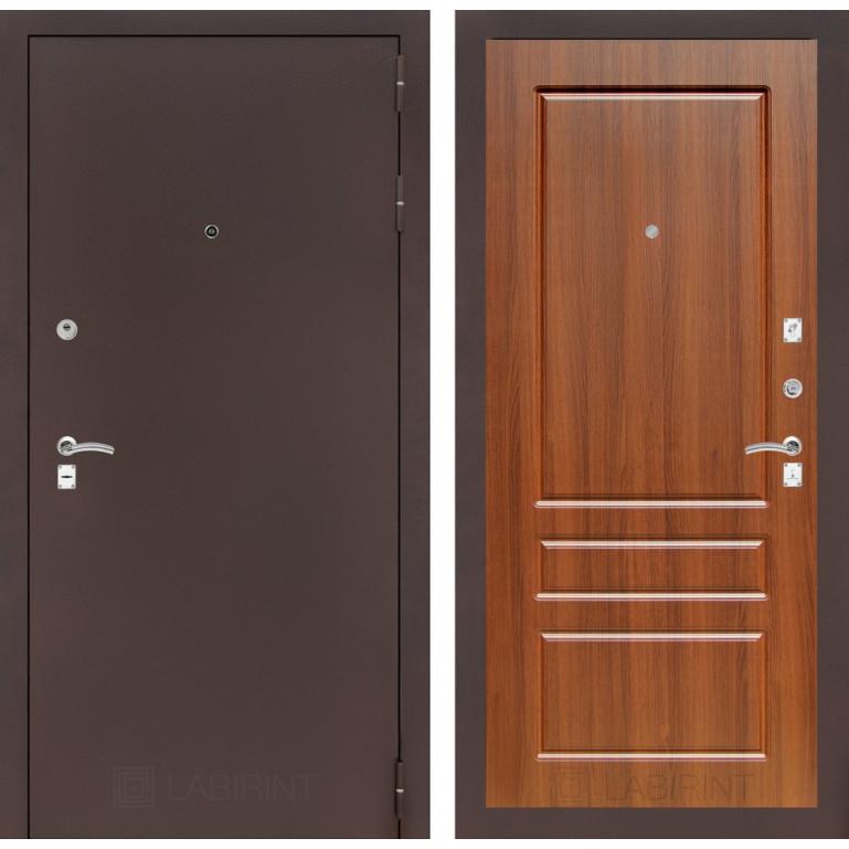 Дверь Лабиринт Classic 03 (Антик медный / Орех бренди)