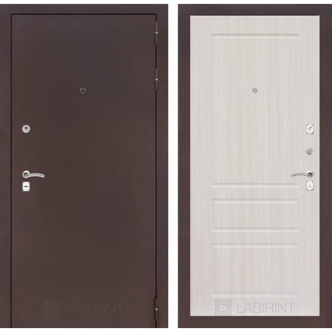 Дверь Лабиринт Classic 03 (Антик медный / Сандал белый)