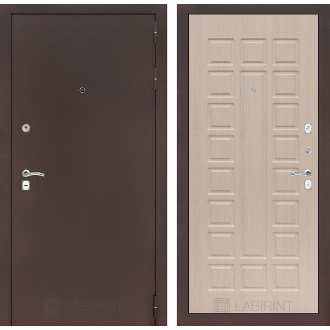 Дверь Лабиринт Classic 04 (Антик медный / Беленый дуб)