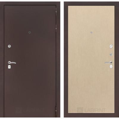Дверь Лабиринт Classic 05 (Антик медный /  Венге светлый)
