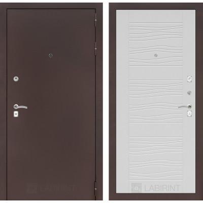 Дверь Лабиринт Classic 06 (Антик медный / Белое дерево)
