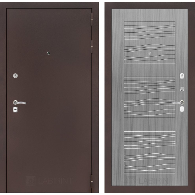 Дверь Лабиринт Classic 06 (Антик медный / Сандал серый)