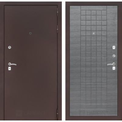 Дверь Лабиринт Classic 09 (Медный антик / Лен сильвер грей)