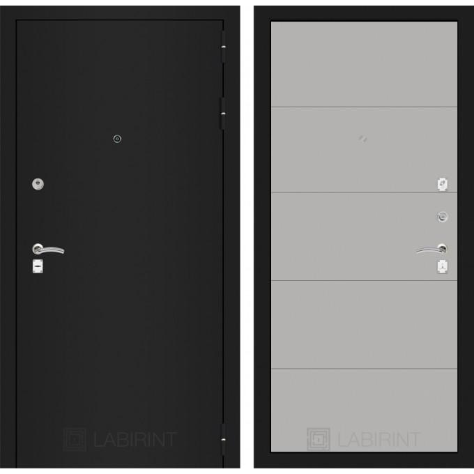 Дверь Лабиринт Classic 13 (Шагрень черная / Грей софт)