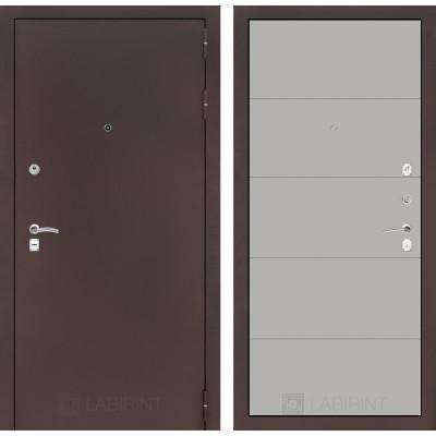 Дверь Лабиринт Classic 13 (Антик медный / Грей софт)