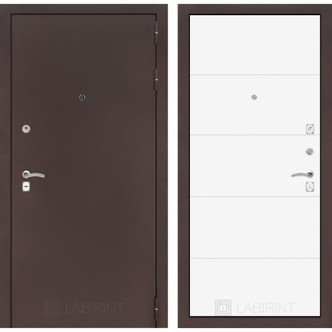 Дверь Лабиринт Classic 13 (Антик медный / Белый софт)