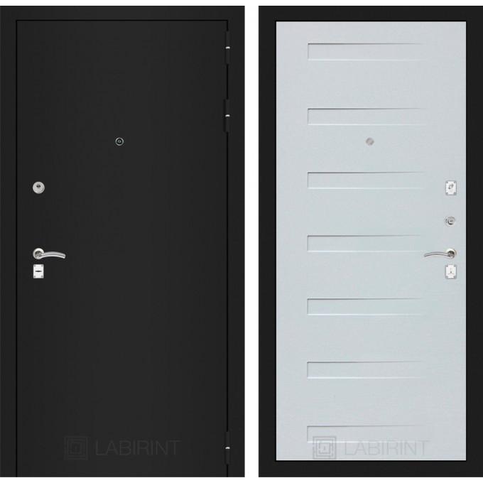 Дверь Лабиринт Classic 14 (Шагрень черная / Дуб кантри белый)