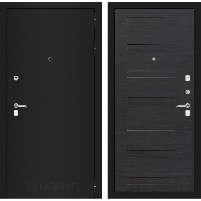 Дверь Лабиринт Classic 14 (Шагрень черная / Эковенге)