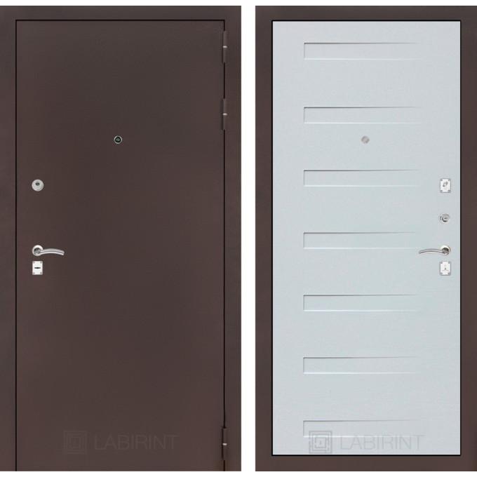 Дверь Лабиринт Classic 14 (Антик медный / Дуб кантри белый)