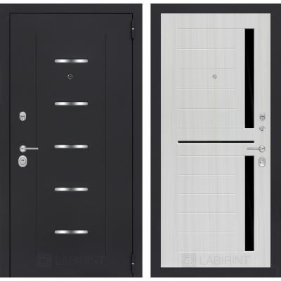 Стальная дверь Лабиринт ALFA 02 (Сандал белый)
